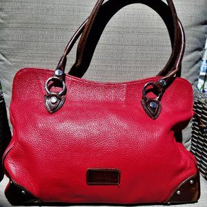 💕Valentina Italian Red Leather Bag